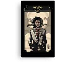 The Devil - Sinking Wasteland Tarot Canvas Print