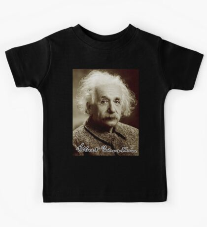 Albert, Einstein, Portrait, signature, Physicist, Genius, mathematician Kids Tee