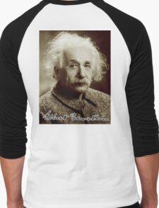 Albert, Einstein, Portrait, signature, Physicist, Genius, mathematician Men's Baseball ¾ T-Shirt