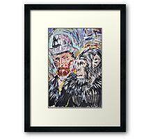 Vincent and the chimp Framed Print