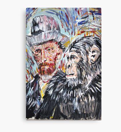 Vincent and the chimp Canvas Print