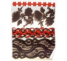 Red & Black Lace Trims Poster