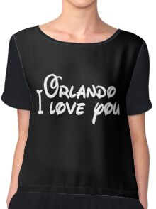 Orlando I Love you Chiffon Top