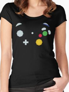 Minimalistic GameCube Controller Women's Fitted Scoop T-Shirt