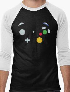 Minimalistic GameCube Controller Men's Baseball ¾ T-Shirt