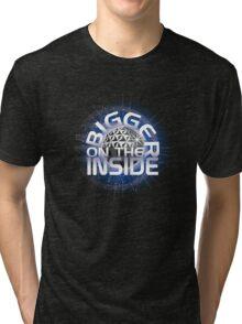 SSE-Bigger on the Inside-Blue Tri-blend T-Shirt