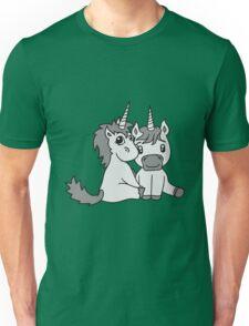 couple love couple in love young unicorn unicorn sweet cute pony horse pferdchen kawaii child girl baby foal Unisex T-Shirt