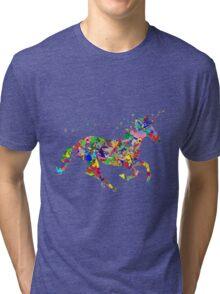 Colourful Unicorn Tri-blend T-Shirt