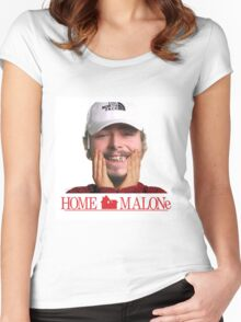 POST MALONE - HOME MALONE Women's Fitted Scoop T-Shirt
