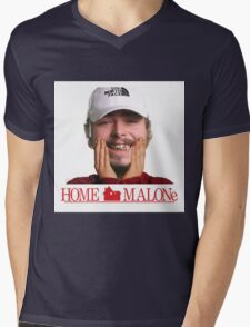 POST MALONE - HOME MALONE Mens V-Neck T-Shirt