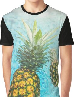Floating Pineapples Graphic T-Shirt