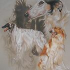 Borzoi - Russian Wolf Hound/Ghost by BarbBarcikKeith