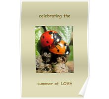 Celebrating the summer of LOVE Poster