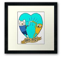 Adventure Time Bro Fist! Framed Print