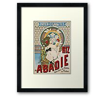 Vintage famous art - H Gray - Riz Abadie Poster Framed Print