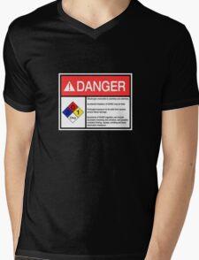 Danger Dihydrogen Monoxide Mens V-Neck T-Shirt