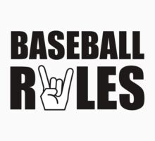 Baseball Rules One Piece - Short Sleeve