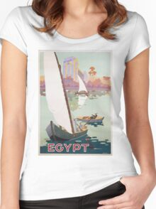 Vintage famous art - Hashim - Egypt Poster Women's Fitted Scoop T-Shirt