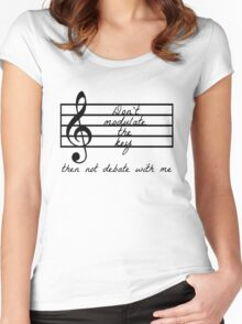 Don't Modulate the Key Women's Fitted Scoop T-Shirt