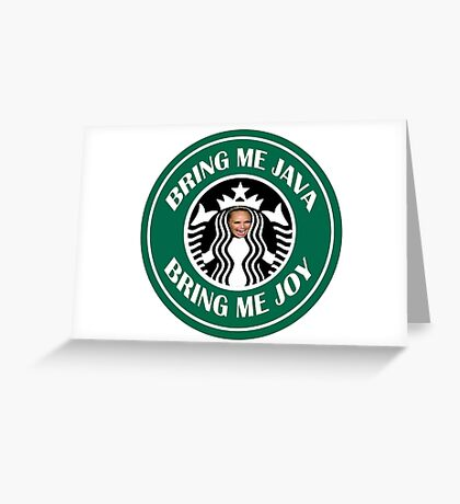 Taylor The Latte Boy Greeting Card
