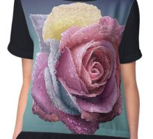 Rainbow Rose Chiffon Top
