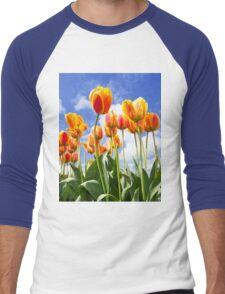 Happy Tulips Men's Baseball ¾ T-Shirt