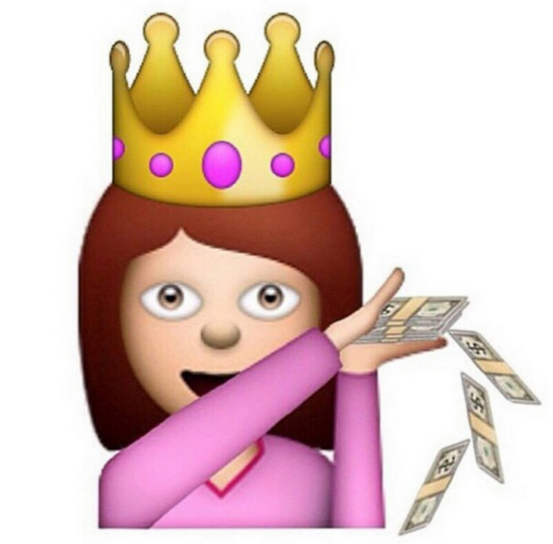 Quot Emoji Queen Make It Rain Quot Stickers By Meganbxiley Redbubble