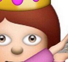 Emoji Queen Make it Rain Sticker