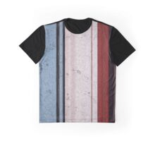 Modern Contemporary Blue&Red Graphic T-Shirt