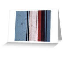 Modern Contemporary Blue&Red Greeting Card