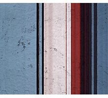 Modern Contemporary Blue&Red Photographic Print