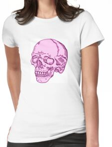 Pink Skull Womens Fitted T-Shirt