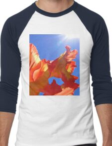 Glorious Sun Gladiola Men's Baseball ¾ T-Shirt