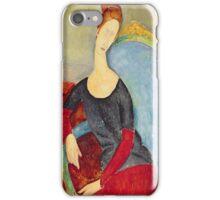 Amedeo Modigliani - Mme Hebuterne In A Blue Chair iPhone Case/Skin