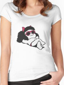 Mafalda Sun & Summer! Women's Fitted Scoop T-Shirt