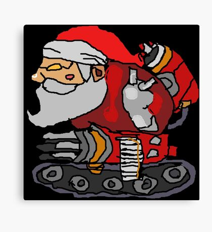 SANTA WITH A MACHINE GUN Canvas Print