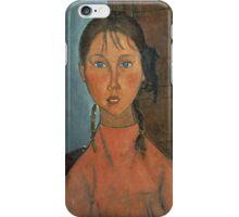 Amedeo Modigliani - Girl With Pigtails iPhone Case/Skin