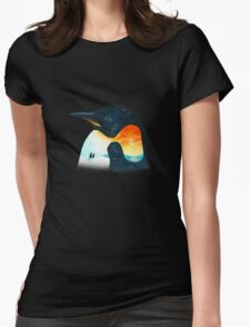 Penguin Sunset Womens Fitted T-Shirt