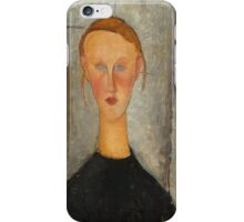 Amedeo Modigliani - Girl With Blue Eyes iPhone Case/Skin
