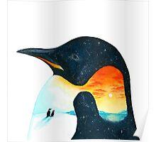 Penguin Sunset Poster