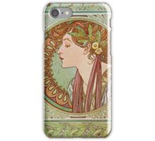 Alphonse Mucha - Laurel  iPhone Case/Skin