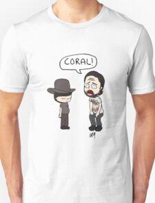 The Walking Dead, Coral meme illustration Unisex T-Shirt