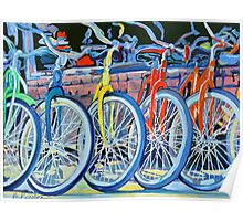 The Bicycle Shop, Bikes in a Row, Bicycle Picture Poster
