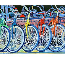 The Bicycle Shop, Bikes in a Row, Bicycle Picture Photographic Print