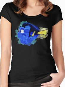 Dory Watercolor Women's Fitted Scoop T-Shirt