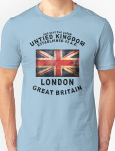LONDON ENGLAND UNTIED KINGDOM GREAT BRITAIN LOGO GOD SAVE THE QUEEN T-Shirt