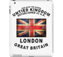 LONDON ENGLAND UNTIED KINGDOM GREAT BRITAIN LOGO GOD SAVE THE QUEEN iPad Case/Skin