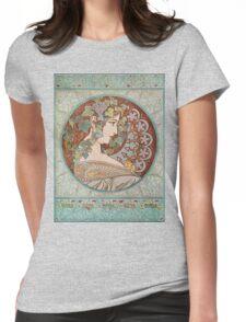 Alphonse Mucha - Ivy  Womens Fitted T-Shirt