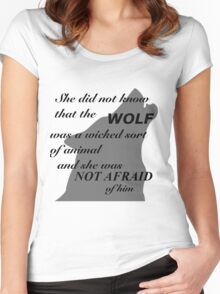 Scarlet Wolf  Women's Fitted Scoop T-Shirt