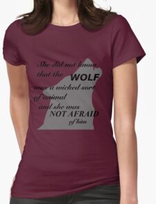 Scarlet Wolf  Womens Fitted T-Shirt